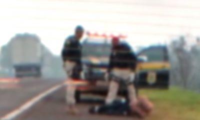 Homem em surto é contido pela PRF na BR-369; Samu foi mobilizado para atendê-lo