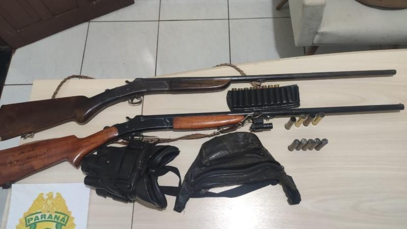 Polícia Militar apreende duas armas de fogo em Juranda; dois homens foram encaminhados à delegacia