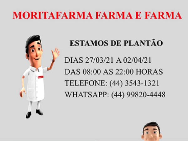 Plantão da Semana: Moritafarma – Farma e Farma de 27/03 a 02/04