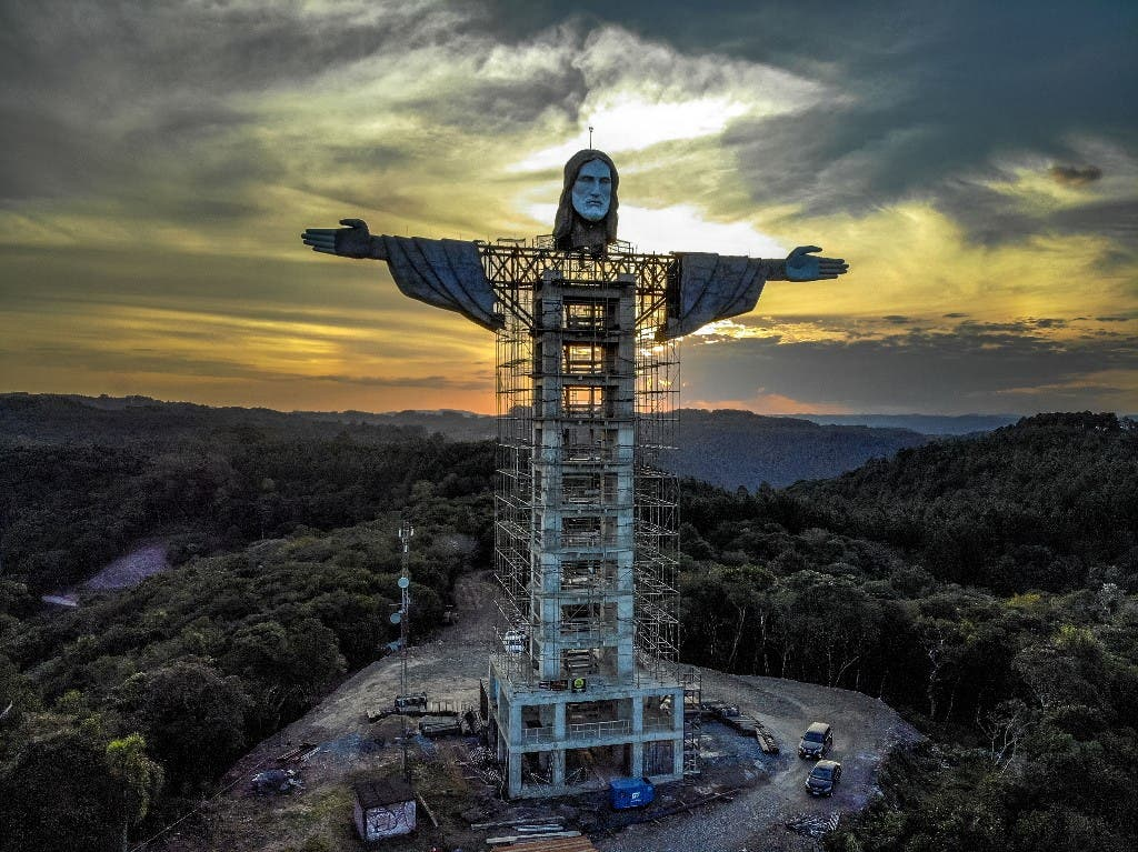 Estátua de Cristo no RS supera a do Rio de Janeiro e vira a maior do Brasil