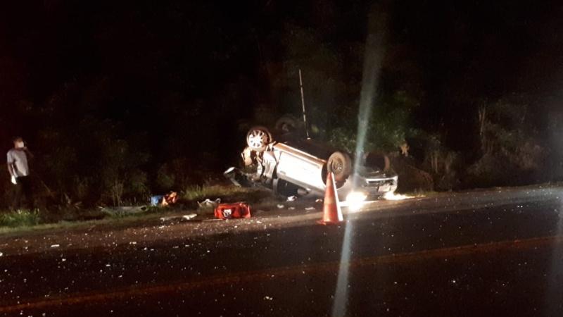 Mulher morre e três ficam feridos em acidente na BR 369 em Ubiratã