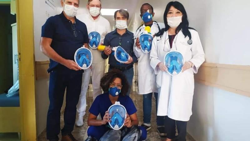 Associação Médica Regional de Ubiratã entrega máscaras tipo snorkel aos hospitais da cidade