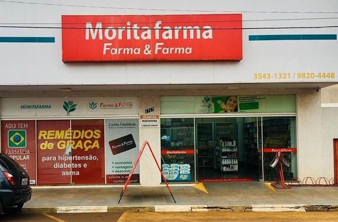 DROGARIA MORITAFARMA – Atendimento de Segunda à Sexta-feira das 08:00 as 18:00; Sábado das 08:00 as 12:00 horas